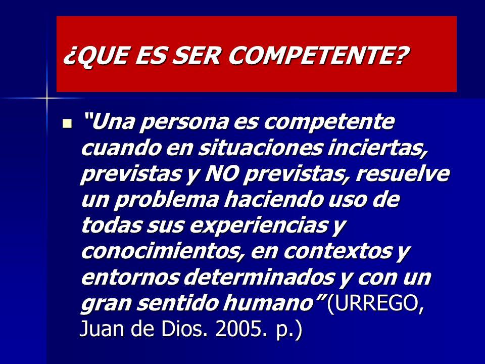 Las competencias solo son posibles en ambientes de aprendizaje argumentativo Las competencias solo son posibles en ambientes de aprendizaje argumentat