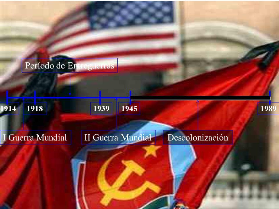 1939198919141918 I Guerra MundialII Guerra Mundial Período de Entreguerras 1945 Descolonización