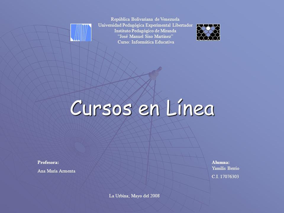 Cursos en Línea Alumna: Yamilis Berrio C.I.