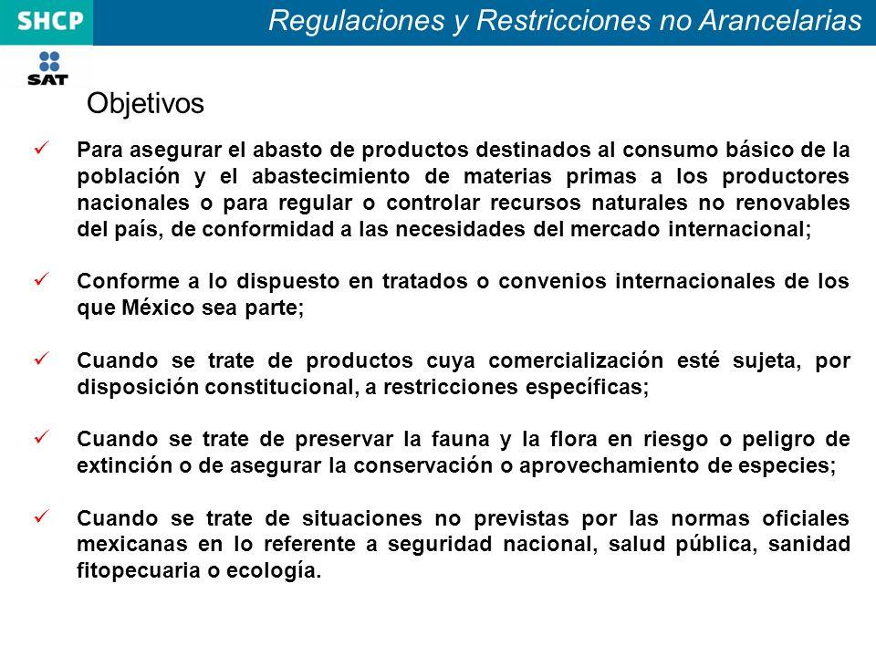 Acuerdos para el cumplimiento de Regulaciones y Restricciones no Arancelarias Anexo 2.2.1.