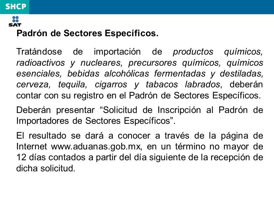 RCGMCE 2.2.2 No es necesario inscribirse en el padrón de importadores cuando se trate de la importación de las siguientes mercancías: Las efectuadas por pasajeros Las importadas para el uso de una persona con discapacidad, mercancías que suplan o disminuyan la incapacidad.