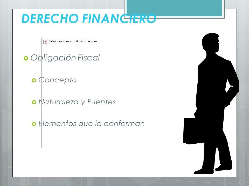 DERECHO FINANCIERO Obligación Fiscal Concepto Naturaleza y Fuentes Elementos que la conforman