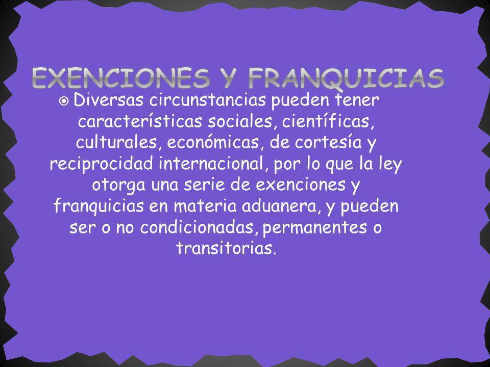 Diversas circunstancias pueden tener características sociales, científicas, culturales, económicas, de cortesía y reciprocidad internacional, por lo q