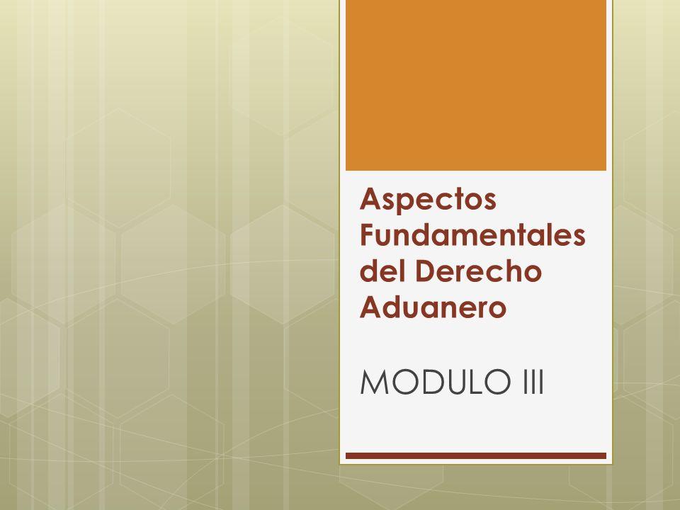 Aspectos Fundamentales del Derecho Aduanero MODULO III
