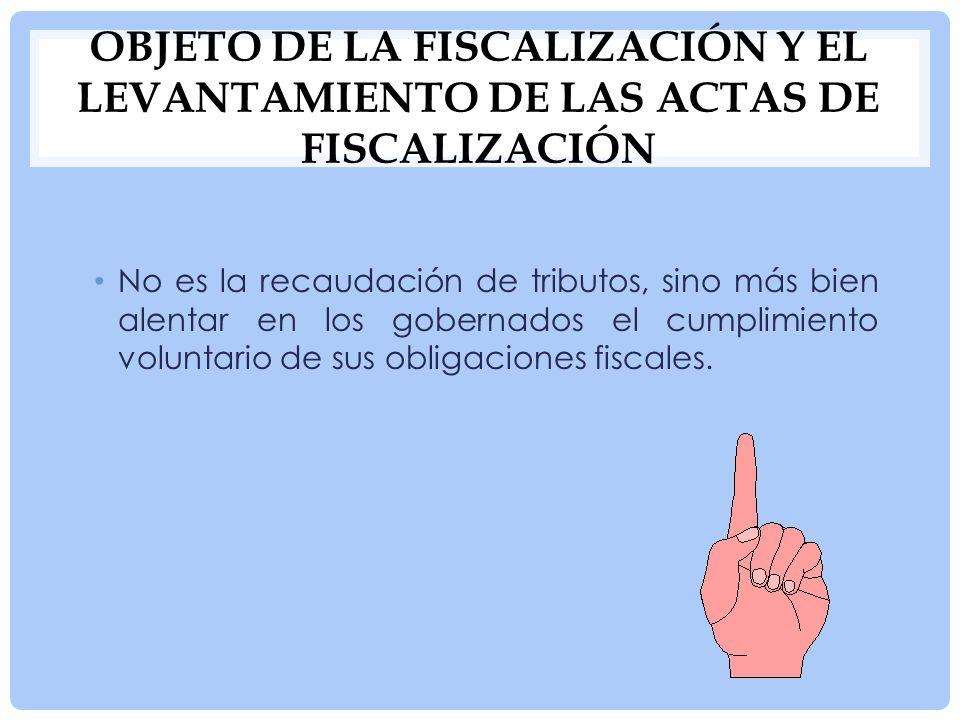INSPECCIÓN INTEGRAL Acciones contenidas en una fiscalización integral: acciones jurídicas, acciones técnicas y acciones administrativas.