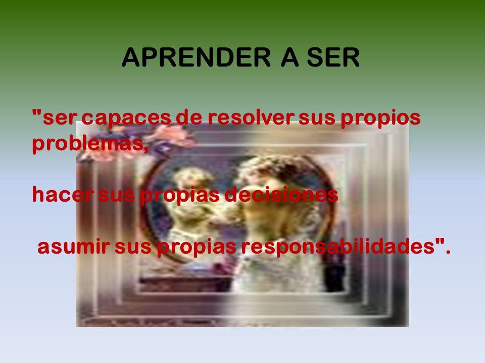 APRENDER A SER