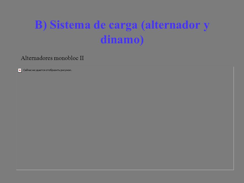 B) Sistema de carga (alternador y dinamo) Alternadores monobloc II