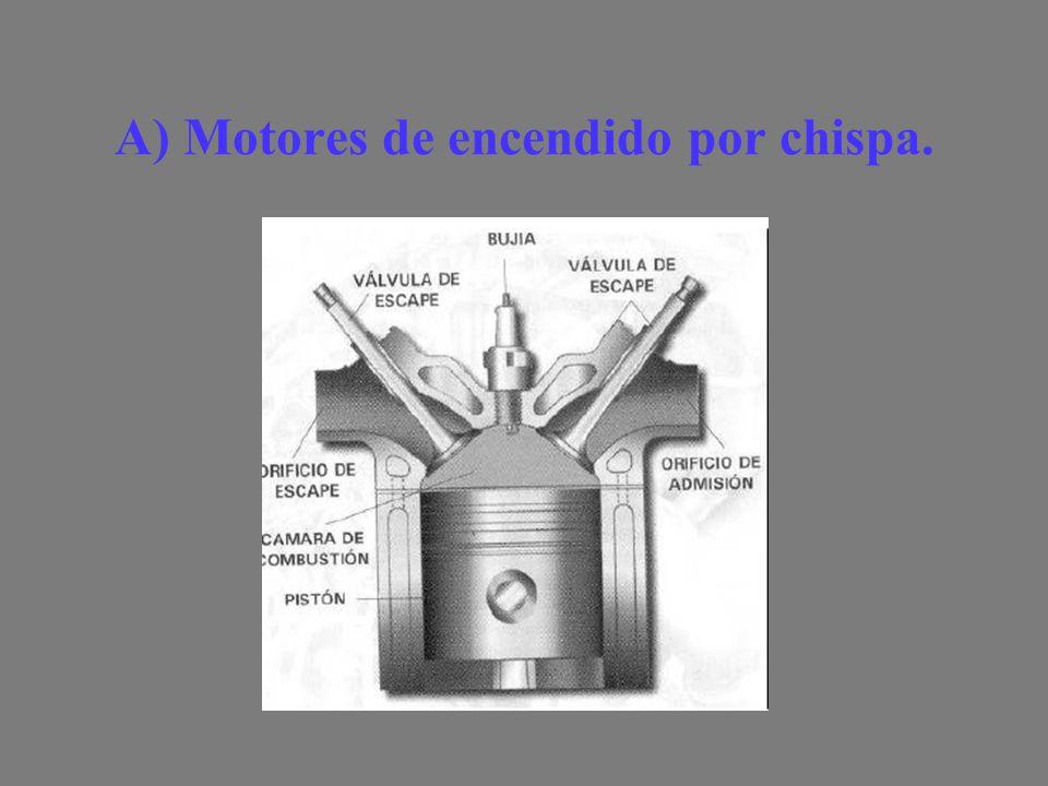A) Motores de encendido por chispa.