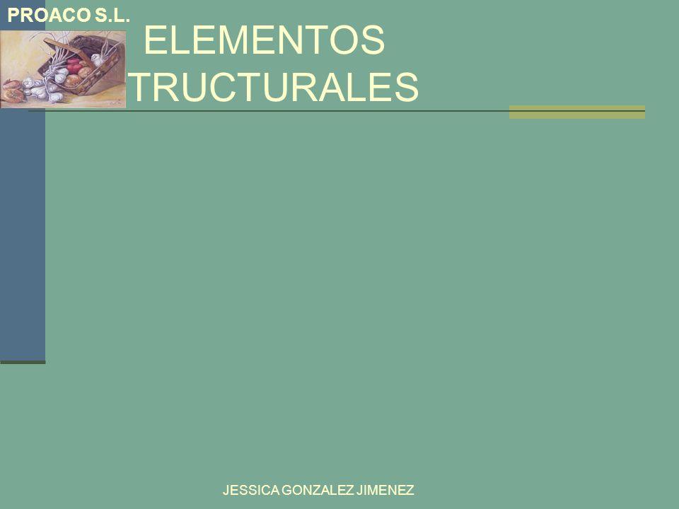 ELEMENTOS ESTRUCTURALES JESSICA GONZALEZ JIMENEZ PROACO S.L.