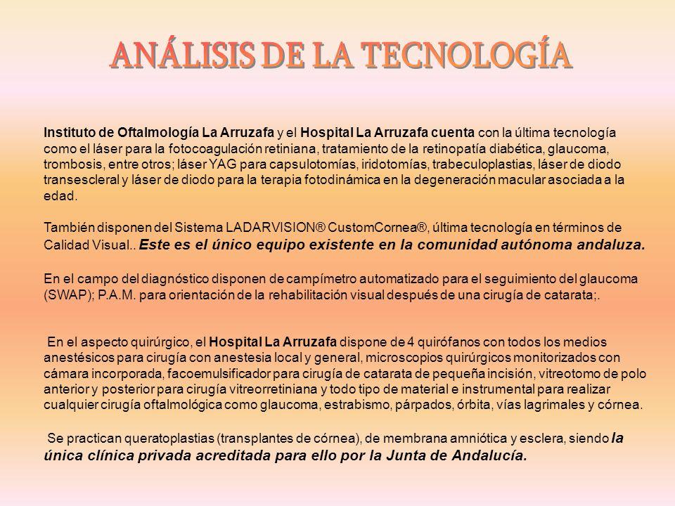 Instituto de Oftalmología La Arruzafa y el Hospital La Arruzafa cuenta con la última tecnología como el láser para la fotocoagulación retiniana, trata