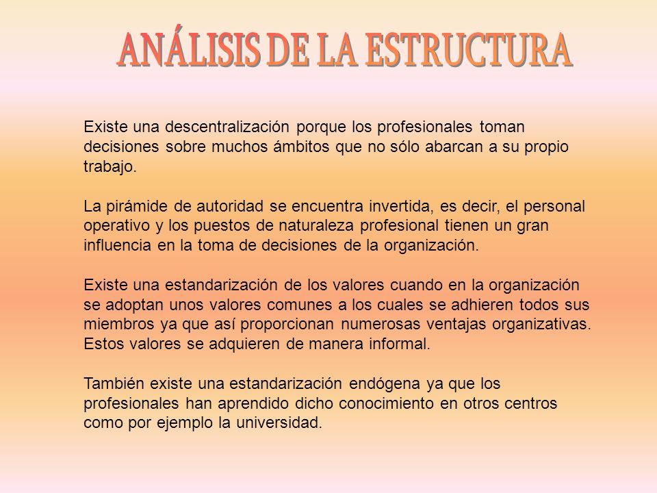 Burocracia permisiva Autocontrol: los profesionales se basan en la responsabilidad individual.