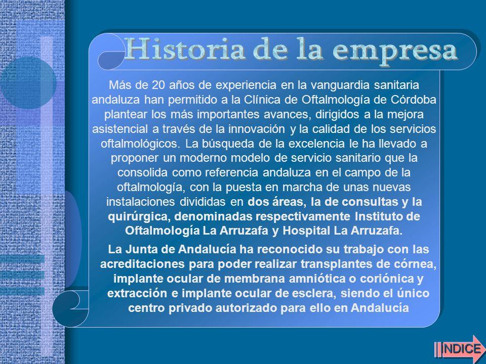 Más de 20 años de experiencia en la vanguardia sanitaria andaluza han permitido a la Clínica de Oftalmología de Córdoba plantear los más importantes a