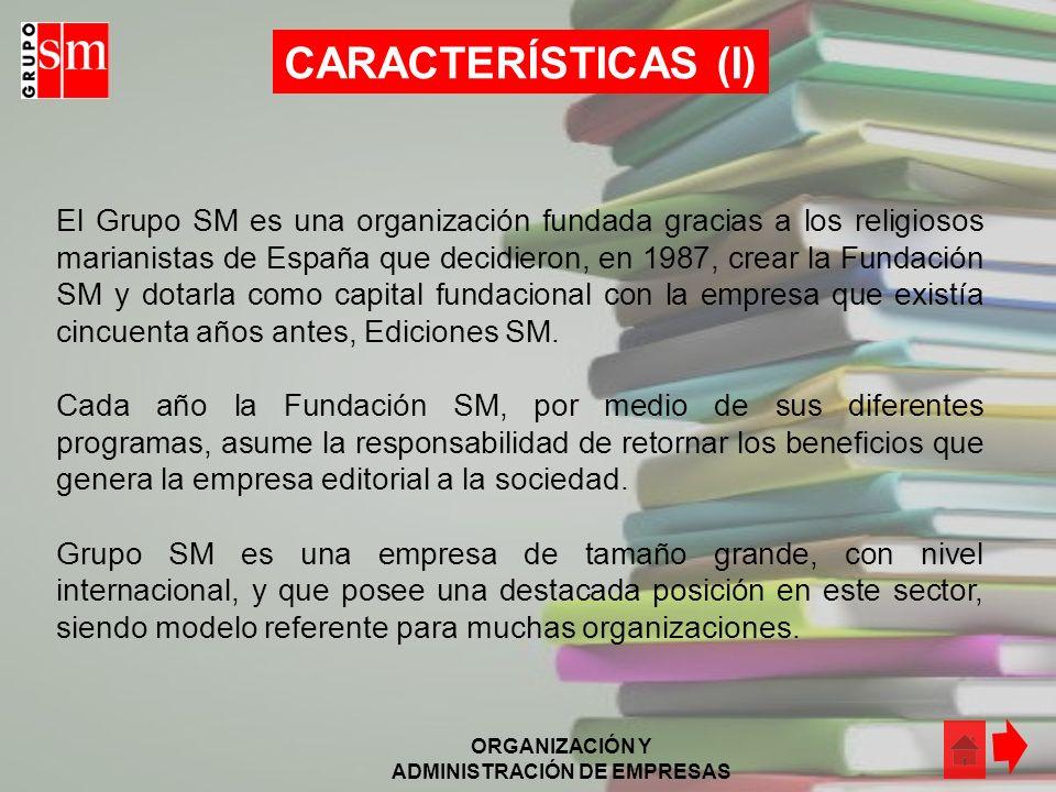 ORGANIZACIÓN Y ADMINISTRACIÓN DE EMPRESAS ACTIVIDAD (II) Empresas del Grupo Presencia de SM en Latinoamérica