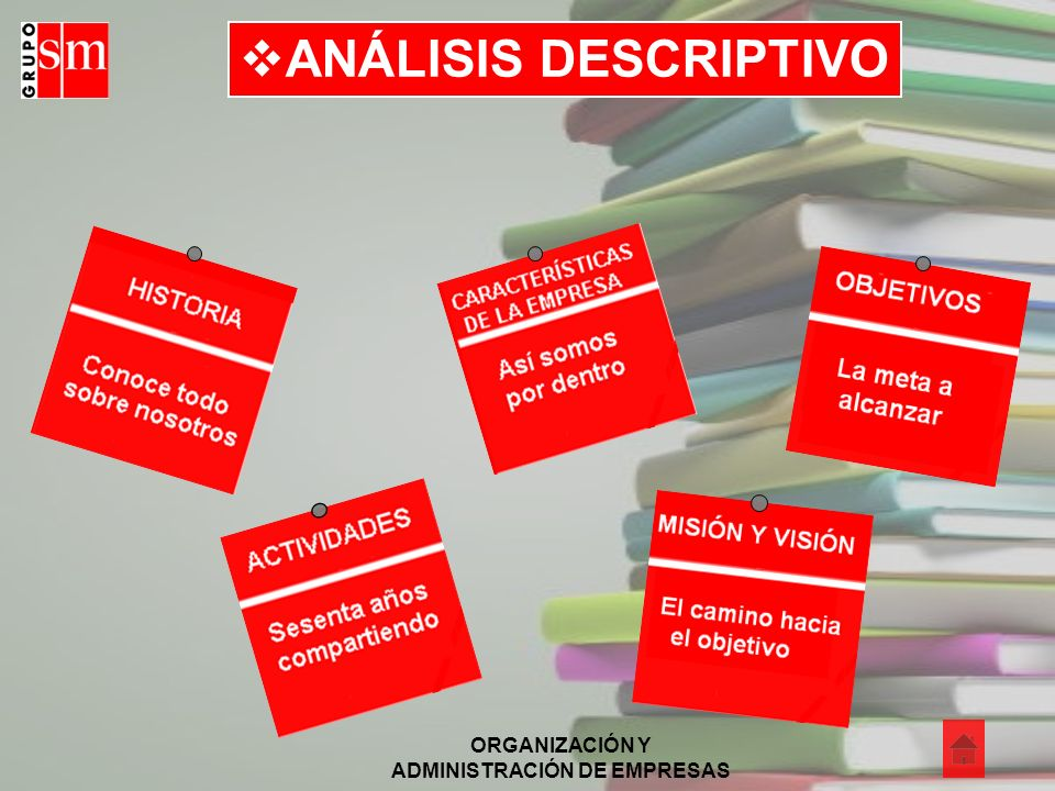 ORGANIZACIÓN Y ADMINISTRACIÓN DE EMPRESAS ANÁLISIS DESCRIPTIVO
