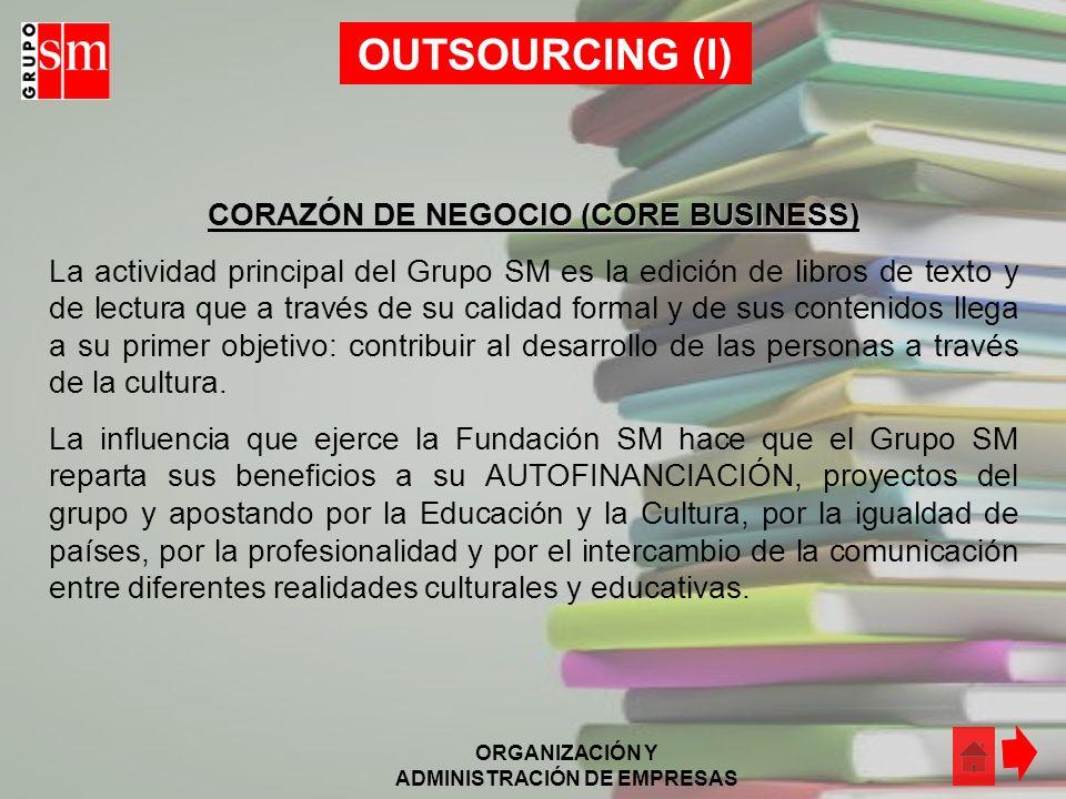 ORGANIZACIÓN Y ADMINISTRACIÓN DE EMPRESAS CLIMA DE LA ORGANIZACIÓN (II) Respecto al ambiente interno de la organización, podemos destacar que Grupo SM