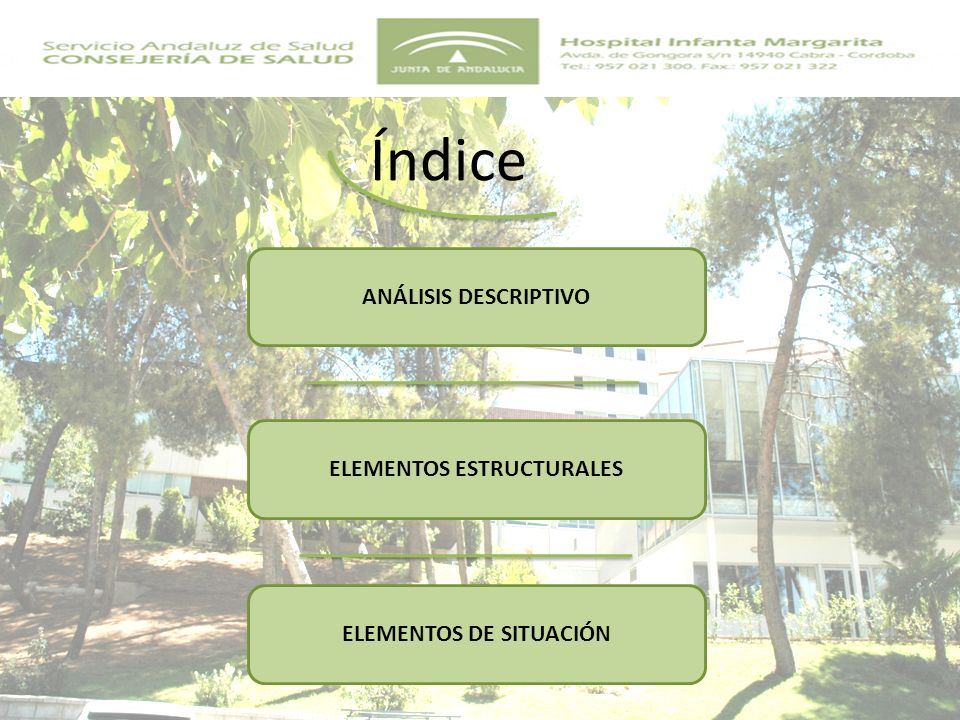 Hospital General Básico Inaugurado en 1982 Ubicado en Cabra En el Parque Natural de la Subbética A 72 Km.