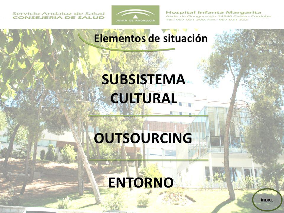 SUBSISTEMA CULTURAL OUTSOURCING ENTORNO ÍNDICE Elementos de situación