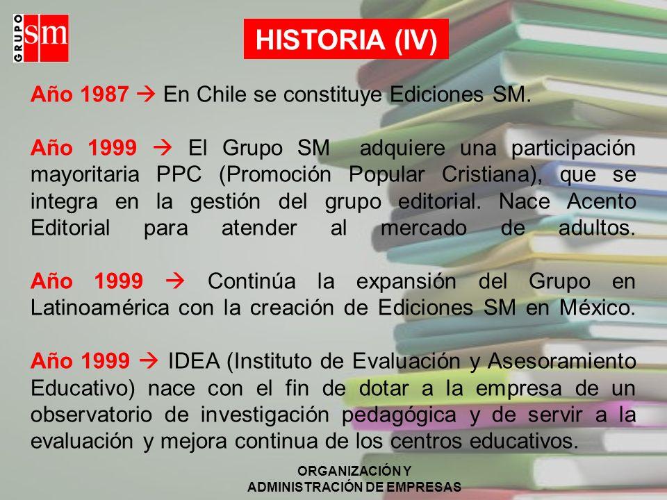 ORGANIZACIÓN Y ADMINISTRACIÓN DE EMPRESAS ELEMENTOS ESTRUCTURALES