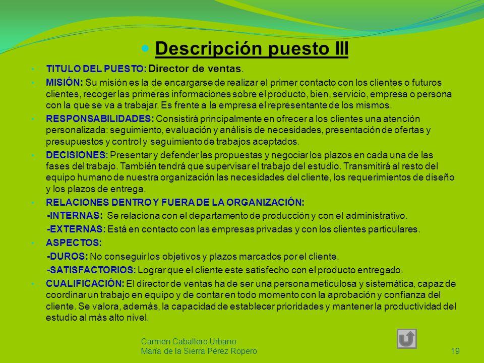 Descripción puesto II TITULO DEL PUESTO: Administrativo MISIÓN: Su misión es la de dirigir y administrar los recursos humanos, financieros, servicios generales y adquisiciones de la empresa a través de Políticas y Normas establecidas por el Director General.
