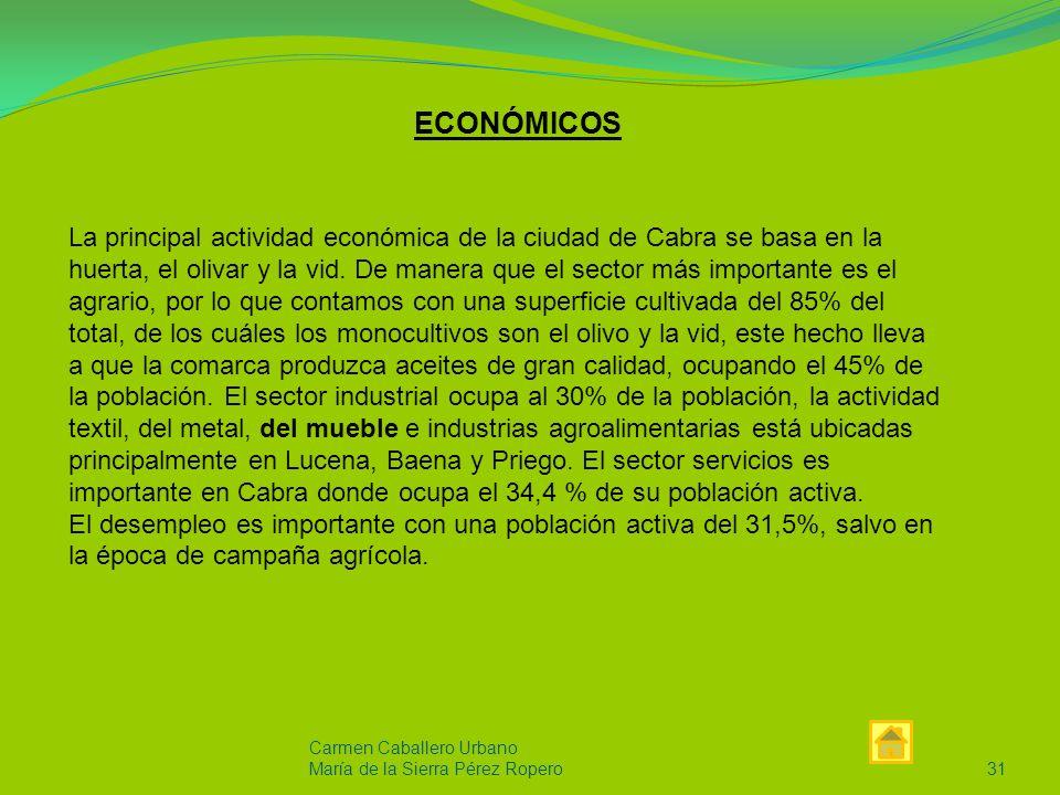Carmen Caballero Urbano María de la Sierra Pérez Ropero30 SOCIO-CULTURALES HNOS.NARVÁEZ.SL es una empresa situada al sur de la provincia de Córdoba, la cual cuenta con una población que rondaba los 21.288 habitantes en 2008, de los cuales 10.454 son hombres y 10.834 son mujeres según el INE.