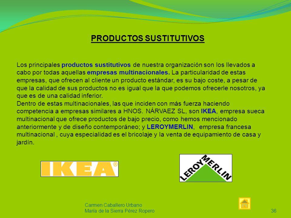 Carmen Caballero Urbano Maria de la Sierra Pérez Ropero35 COMPETIDORES En el sector del mueble los principales competidores de la provincia de Córdoba están situados en la ciudad de Lucena, ya que son los primeros productores de muebles.