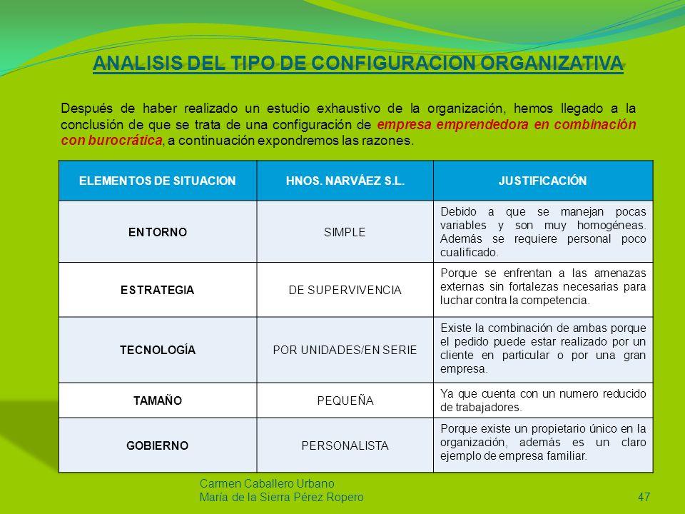 Carmen Caballero Urbano María de la Sierra Pérez Ropero46 En cuanto al patrón estratégico que la empresa presenta es el defensivo ya que la empresa trata de perfeccionar sus productos, además emplean una tecnología rutinarias.