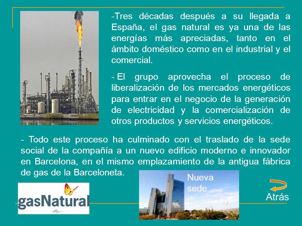 -Tres décadas después a su llegada a España, el gas natural es ya una de las energías más apreciadas, tanto en el ámbito doméstico como en el industrial y el comercial.