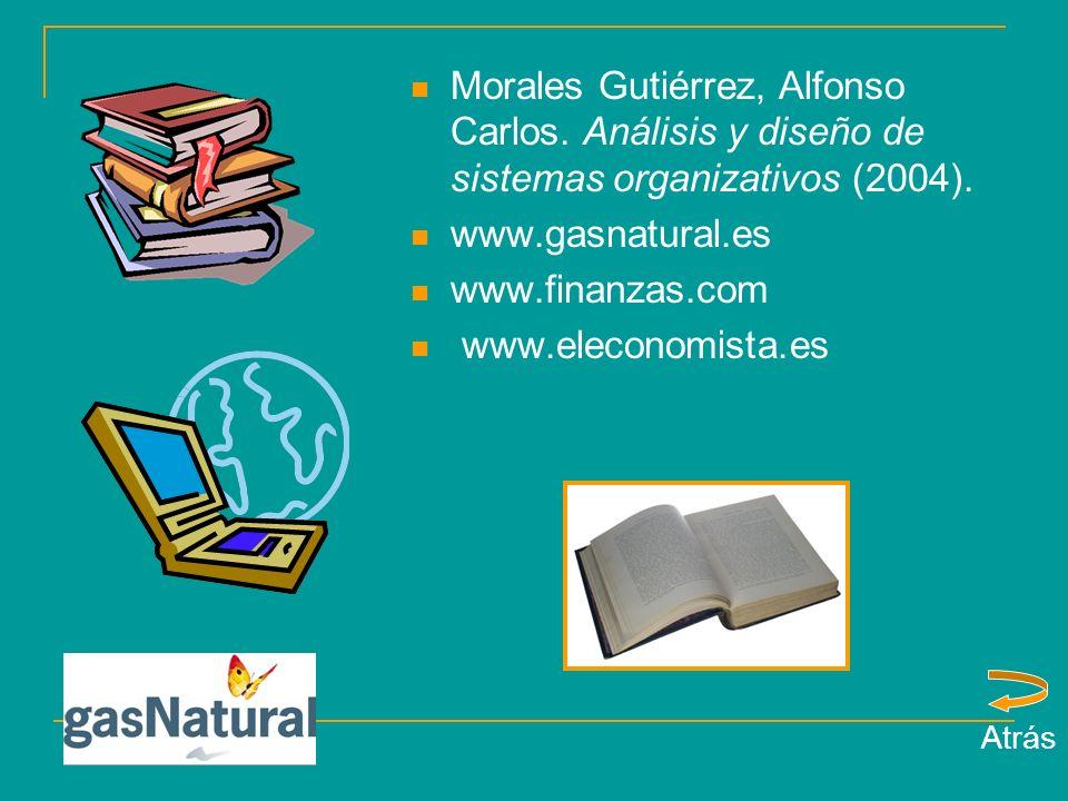Morales Gutiérrez, Alfonso Carlos.Análisis y diseño de sistemas organizativos (2004).