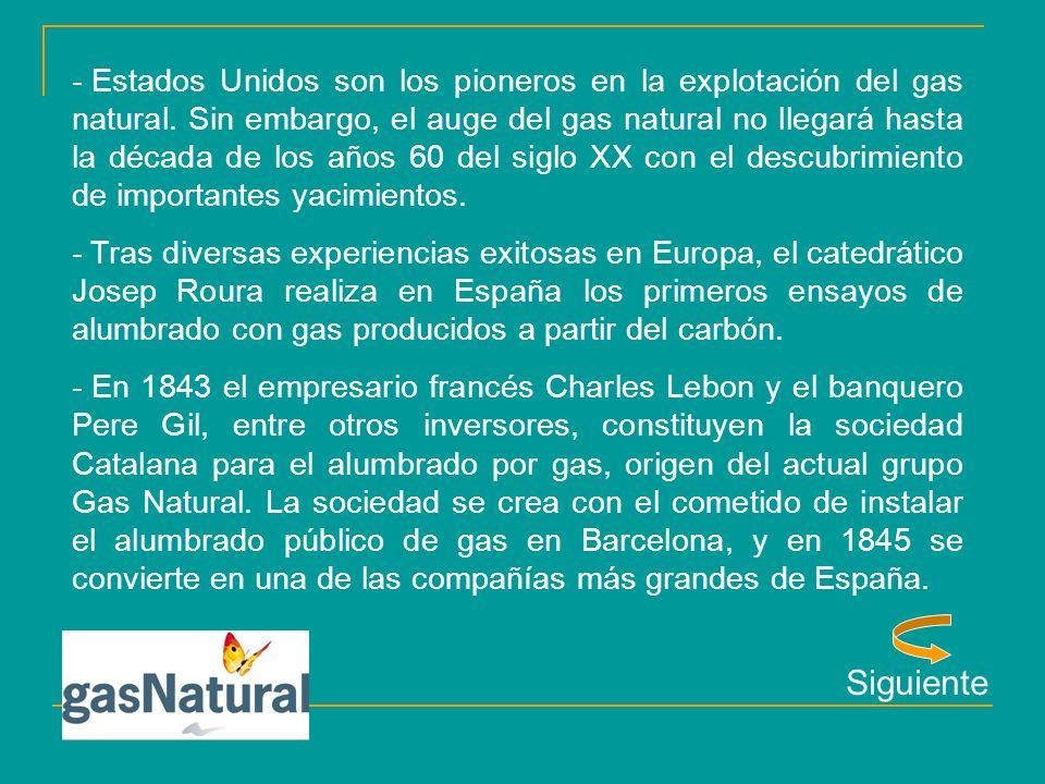 Atrás - En 1846, los empresarios ingleses Guillermo Partington y Eduardo Oliver Manby crean la sociedad Madrileña para el alumbrado de gas en Madrid.