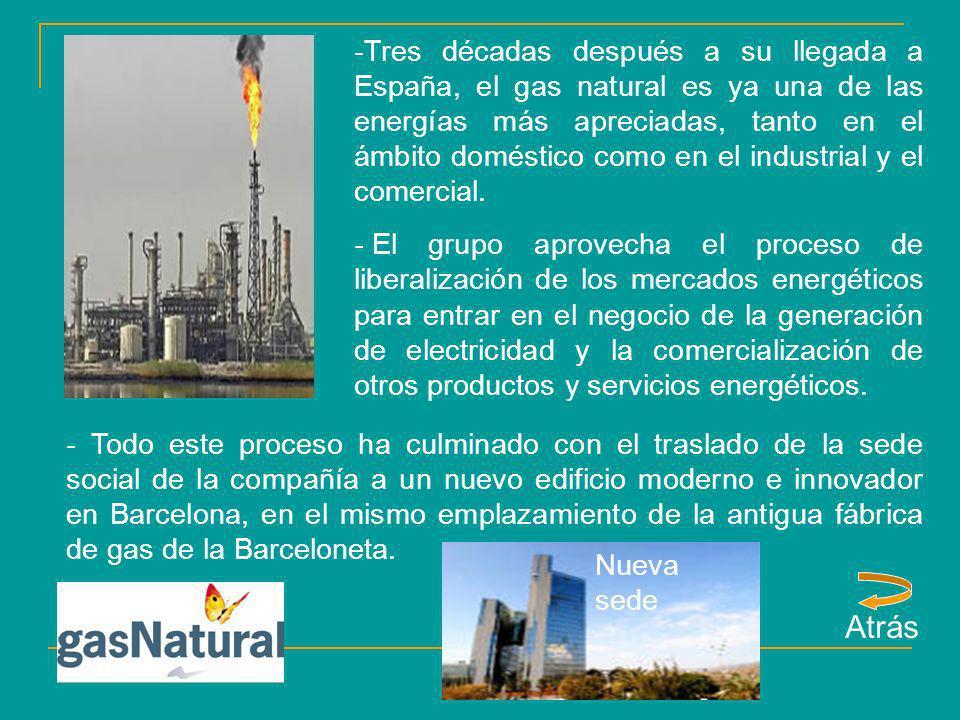 -Tres décadas después a su llegada a España, el gas natural es ya una de las energías más apreciadas, tanto en el ámbito doméstico como en el industri