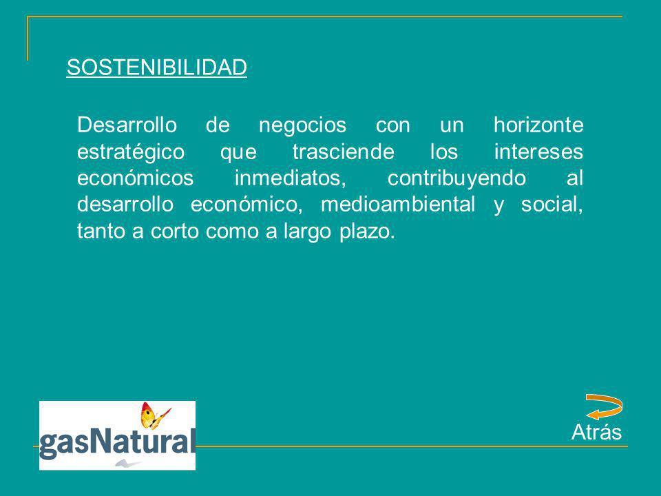 SOSTENIBILIDAD Desarrollo de negocios con un horizonte estratégico que trasciende los intereses económicos inmediatos, contribuyendo al desarrollo eco