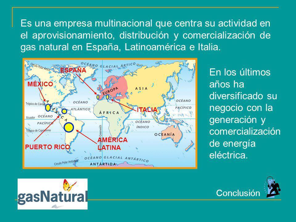 Es una empresa multinacional que centra su actividad en el aprovisionamiento, distribución y comercialización de gas natural en España, Latinoamérica