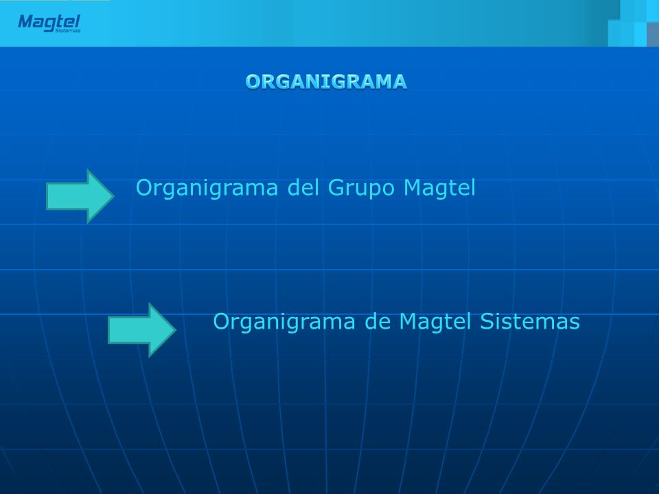 Organigrama del Grupo Magtel Organigrama de Magtel Sistemas
