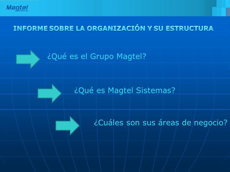 ¿Qué es el Grupo Magtel? ¿Qué es Magtel Sistemas? ¿Cuáles son sus áreas de negocio?