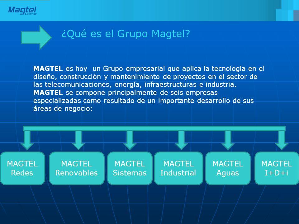 ¿Qué es el Grupo Magtel? MAGTEL es hoy un Grupo empresarial que aplica la tecnología en el diseño, construcción y mantenimiento de proyectos en el sec