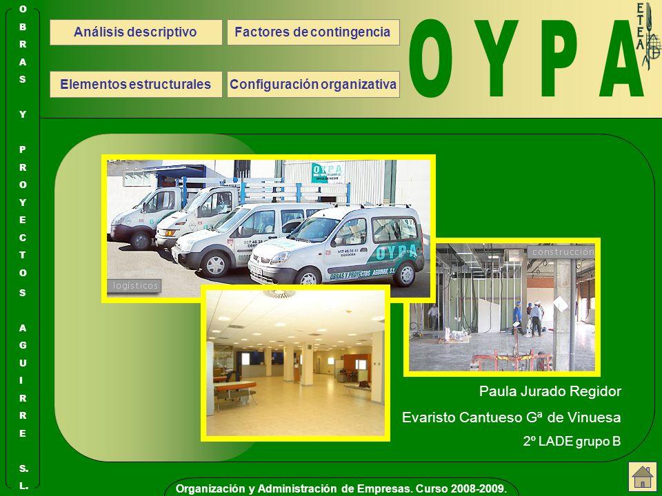 Organización y Administración de Empresas.Curso 2008-2009.
