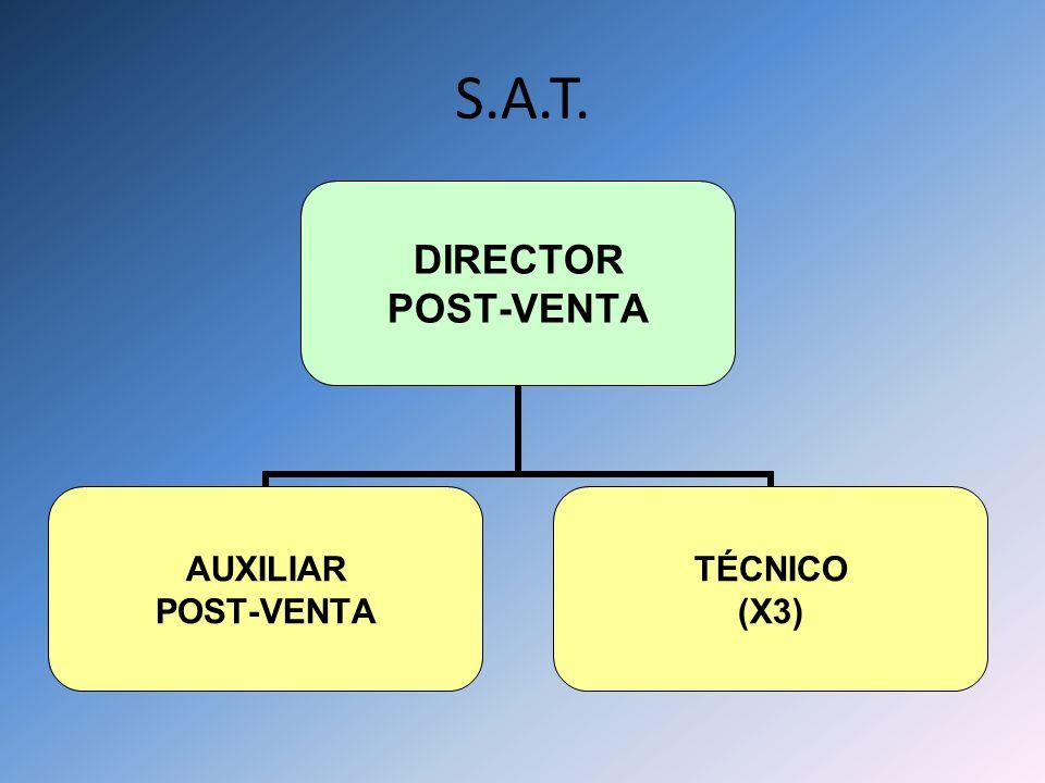 S.A.T. DIRECTOR POST-VENTA AUXILIAR POST-VENTA TÉCNICO (X3)