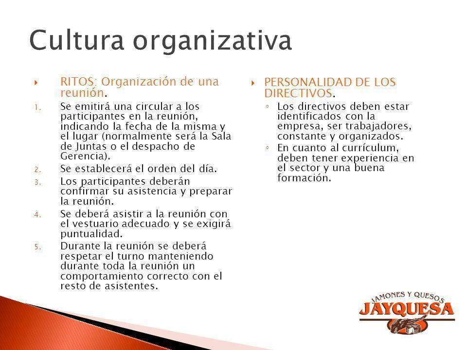 RITOS: Organización de una reunión. 1. Se emitirá una circular a los participantes en la reunión, indicando la fecha de la misma y el lugar (normalmen