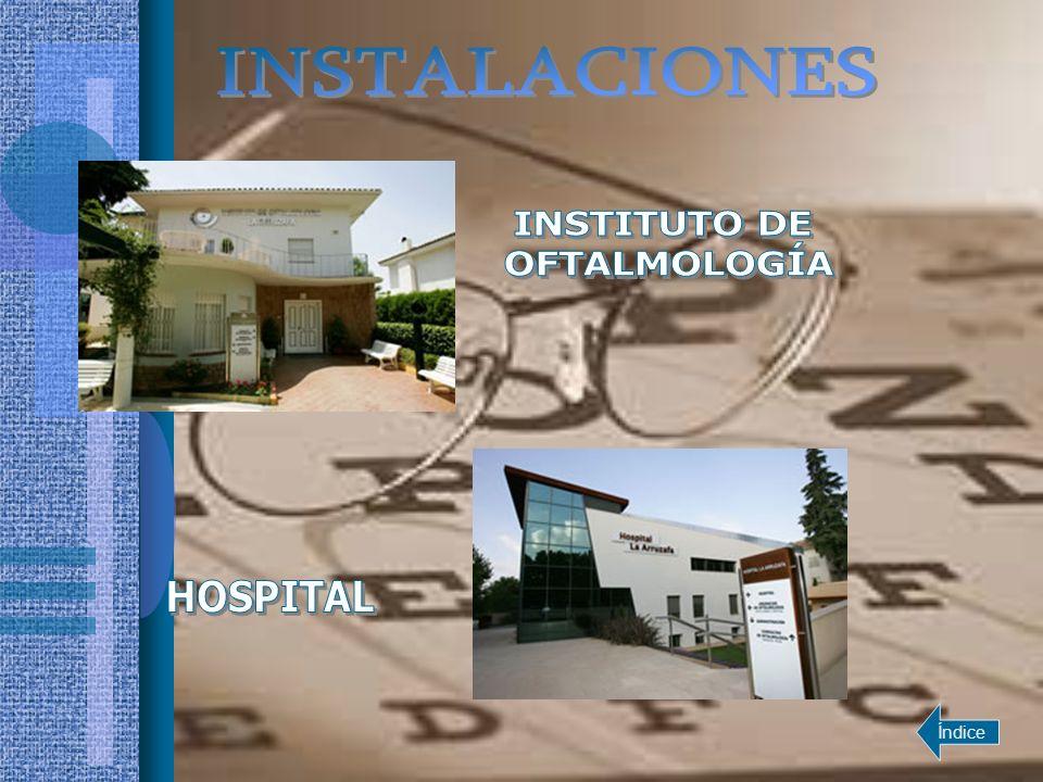 1 Sala de láseres 7 Consultas de oftalmología 4 Salas de espera 4 Consultas de optometría 2 Despachos de atención al usuario 2 Salas de exploración Volver a instalaciones