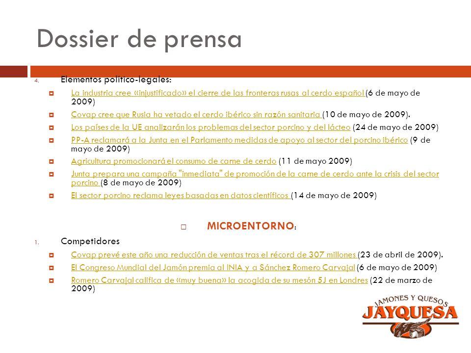 Dossier de prensa 4. Elementos político-legales: La industria cree «injustificado» el cierre de las fronteras rusas al cerdo español (6 de mayo de 200