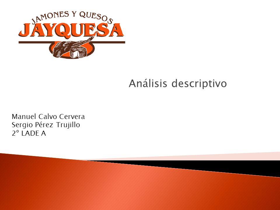 Análisis descriptivo Manuel Calvo Cervera Sergio Pérez Trujillo 2º LADE A
