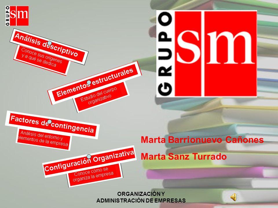 ORGANIZACIÓN Y ADMINISTRACIÓN DE EMPRESAS Marta Barrionuevo Cañones Marta Sanz Turrado