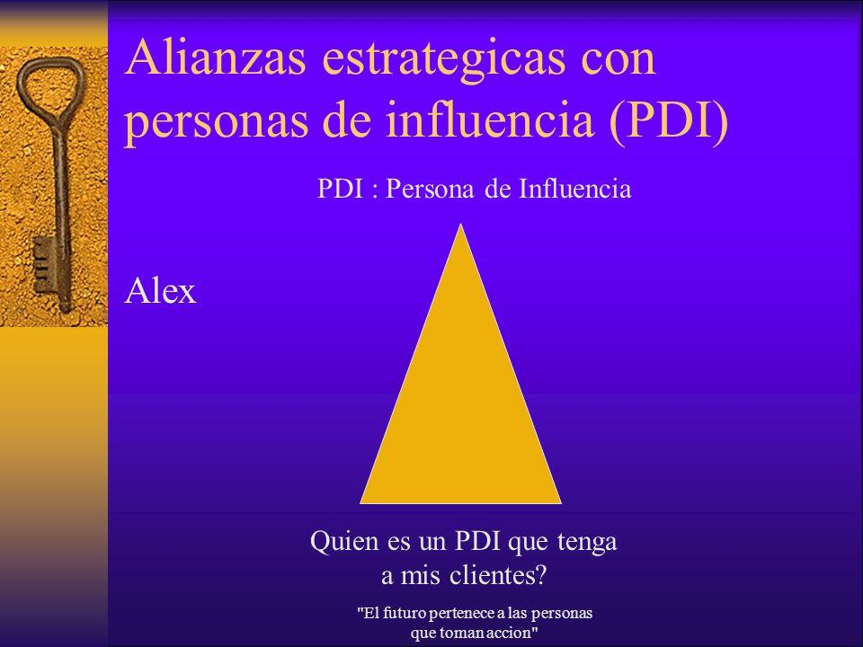 Alianzas estrategicas con personas de influencia (PDI) Alex