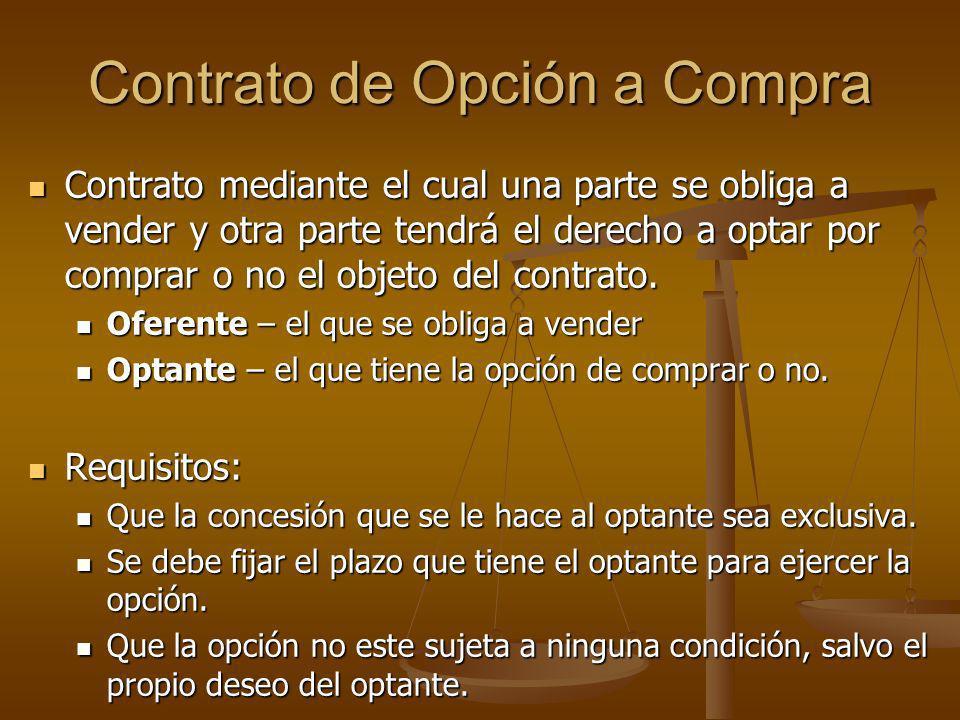Contratos de Garantía (cont.) Una misma propiedad puede ser hipotecada x mas de una vez, sin que tengan que extinguirse 1ero las anteriores.