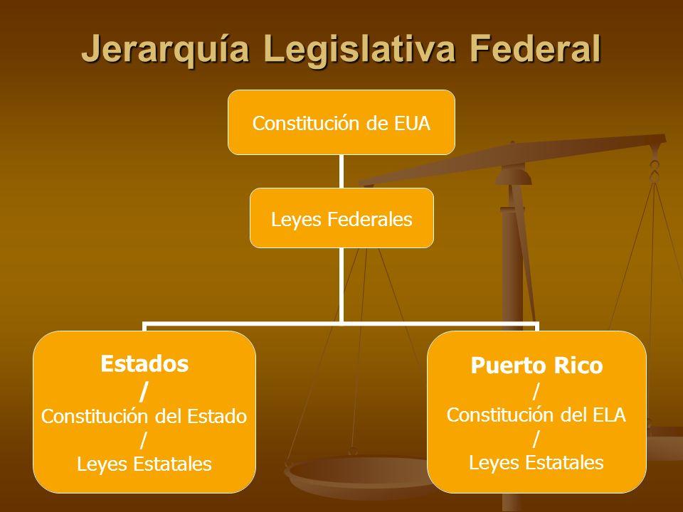 Jerarquía Legislativa Federal Leyes Federales
