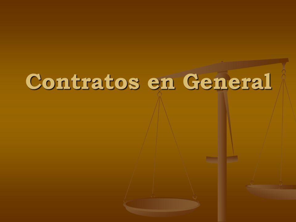Contratos en General