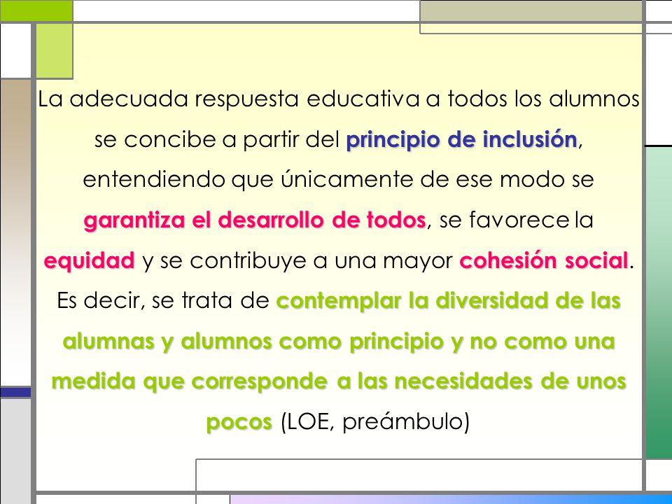 principio de inclusión garantiza el desarrollo de todos equidadcohesión social contemplar la diversidad de las alumnas y alumnos como principio y no c