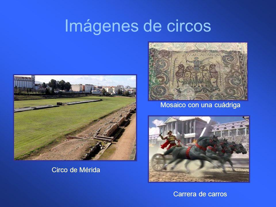 Imágenes de circos Circo de Mérida Mosaico con una cuádriga Carrera de carros