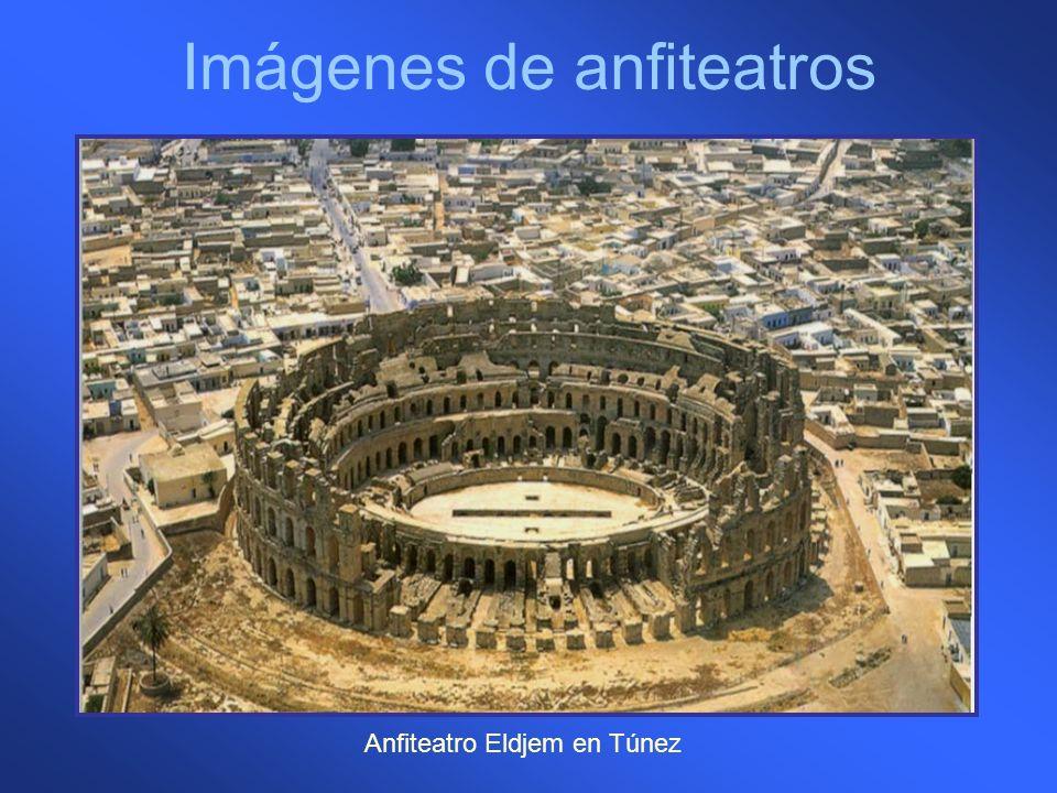 Imágenes de anfiteatros Anfiteatro Eldjem en Túnez