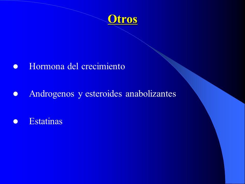 Otros Hormona del crecimiento Androgenos y esteroides anabolizantes Estatinas